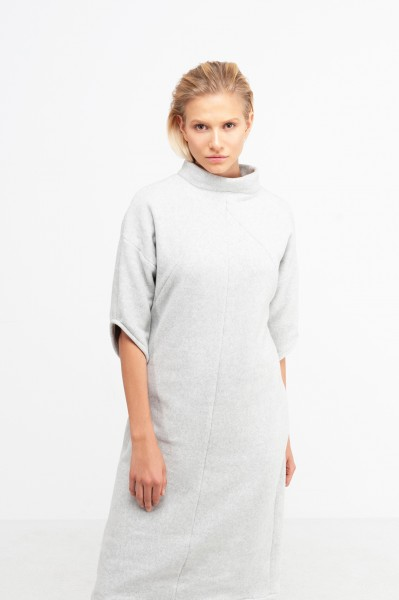 YOKO DRESS cotton fleece