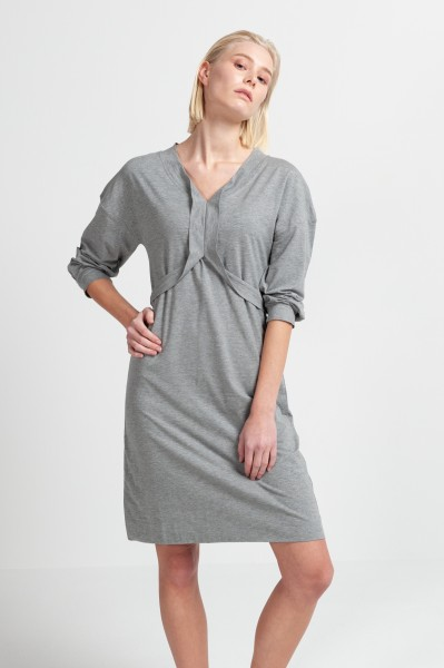 LAILA DRESS cotton seacell dusty grey