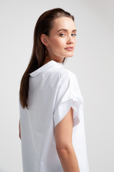 MELBA BLOUSE percale white