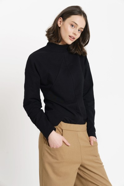 ANNIE JUMPER cotton black