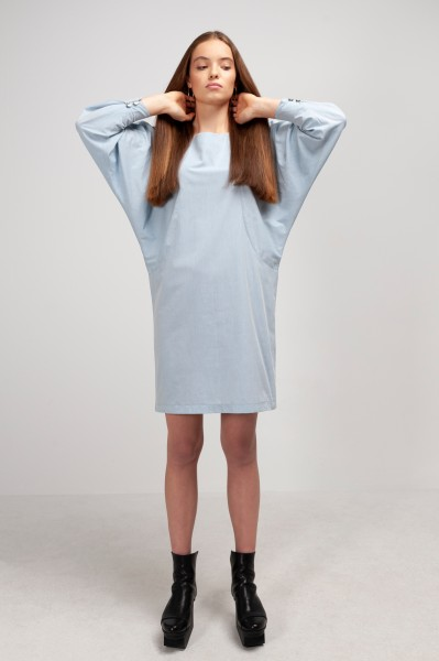 MERYL DRESS cotton chambray pastel blue