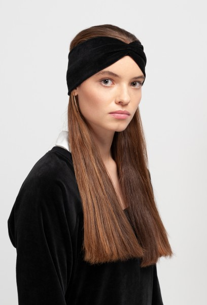 MIRIAM HEADBAND cotton velvet black